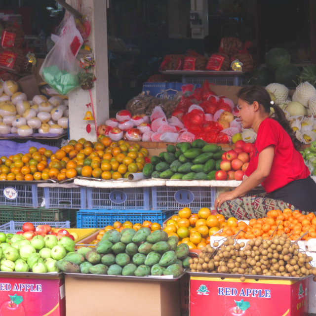 """Fruit stall"" stock image"