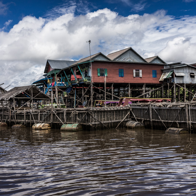 """Houses on stilts"" stock image"