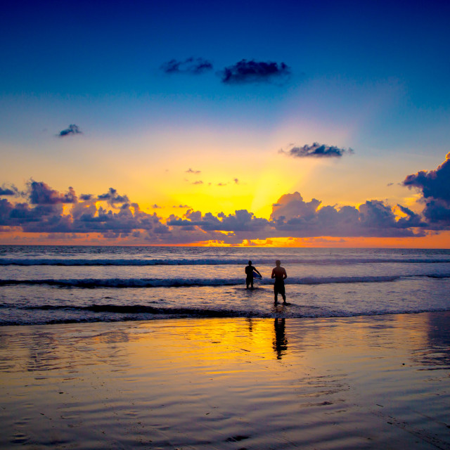 """Surfers Sunset"" stock image"