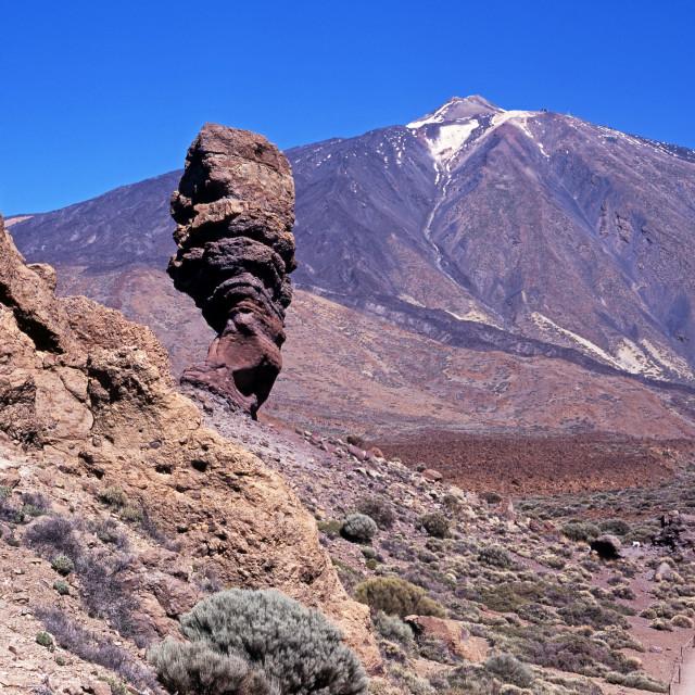 """Mount Teide and Las Canadas National Park, Tenerife"" stock image"