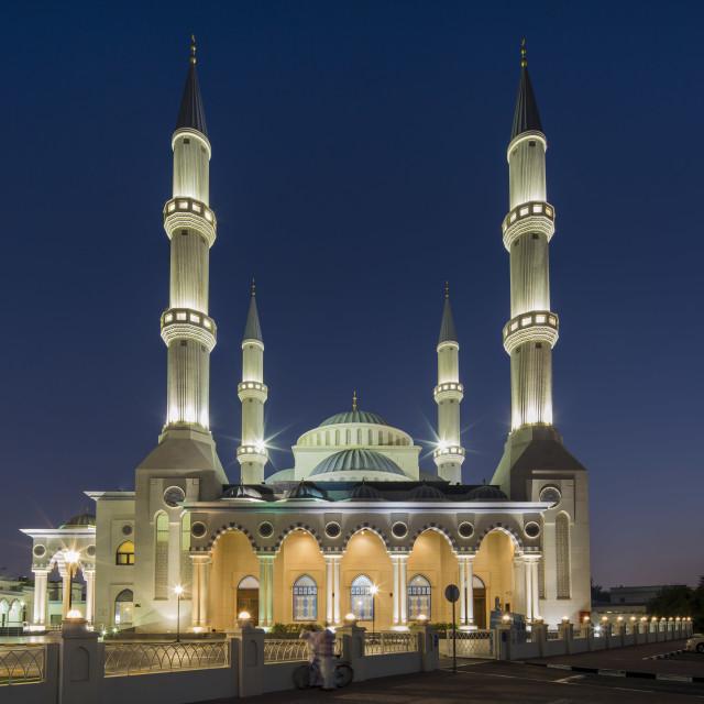 """Al Farooq Omar Bin Al Khattab mosque, Dubai, UAE"" stock image"