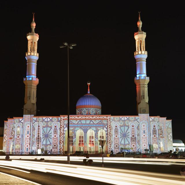 """""""Ammar Bin Yasser mosque, Al Dhaid, Sharjah, UAE"""" stock image"""