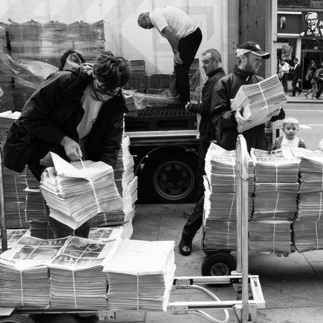 """Newspaper Delivery"" stock image"