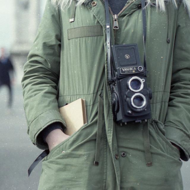 """Yashica TLR Film Camera"" stock image"