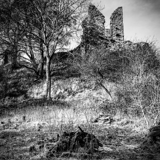 """Castle Ruins"" stock image"