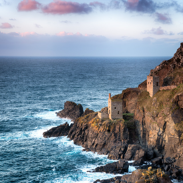 """""""Cornish Engine Houses"""" stock image"""