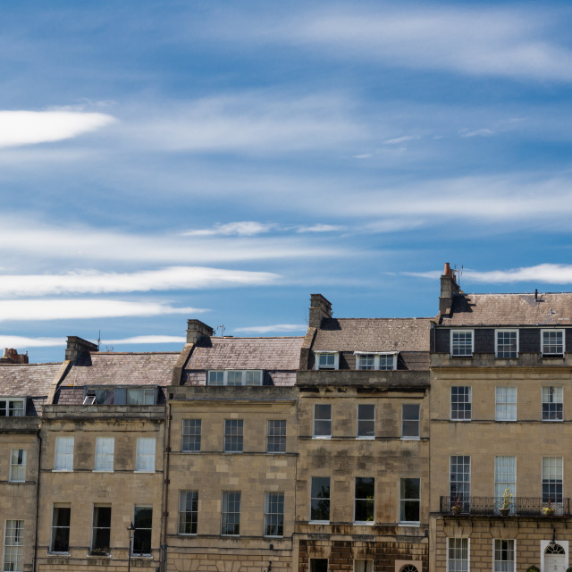 """Bath City Street Town Houses"" stock image"