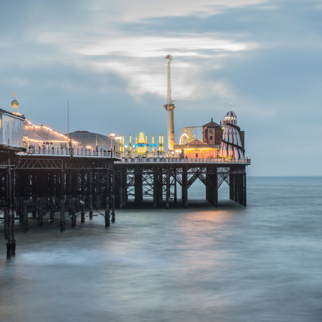 """Brighton Pier at Twilight"" stock image"