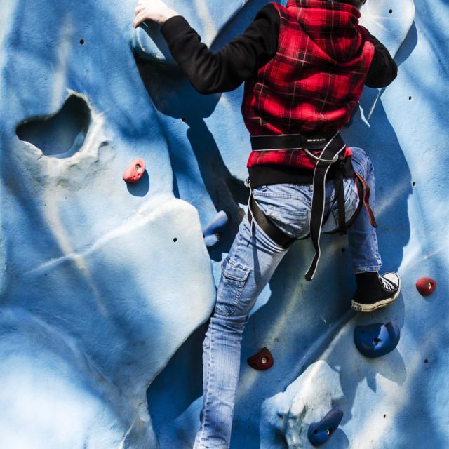 """The climber"" stock image"