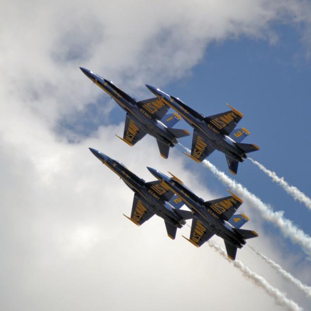 """Jet Display Team - USN Blue Angels"" stock image"