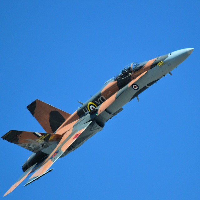 """""""RCAF CF-18 fighter"""" stock image"""