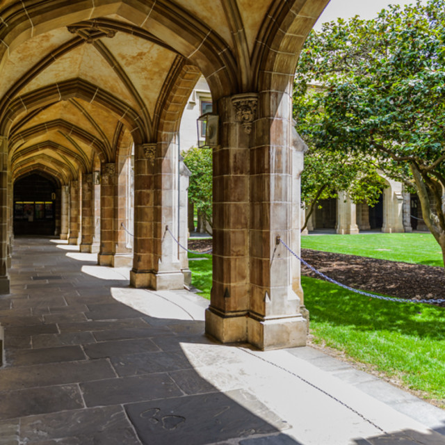 """""""The University of Melbourne"""" stock image"""