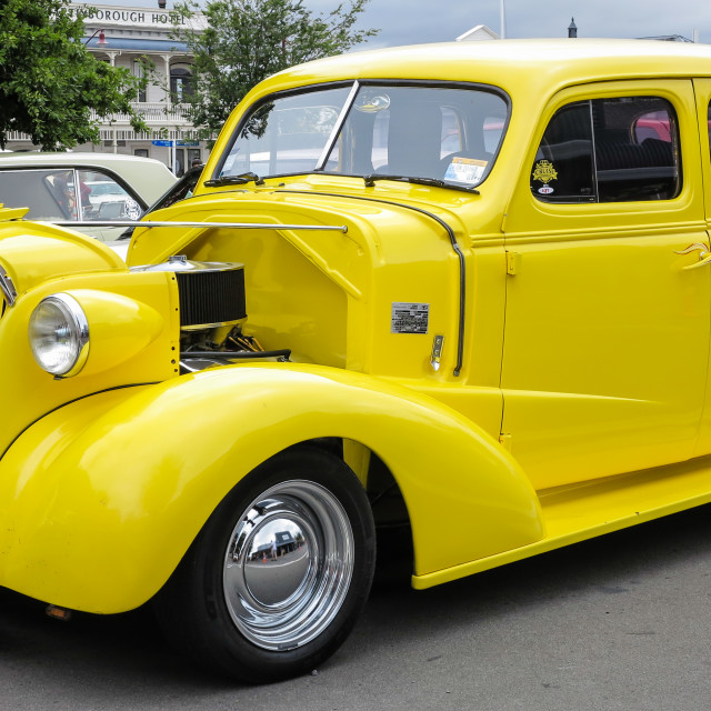 """Chevrolet street rod"" stock image"