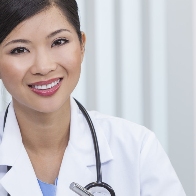 """""""Chinese Female Woman Hospital Doctor Hospital Office"""" stock image"""