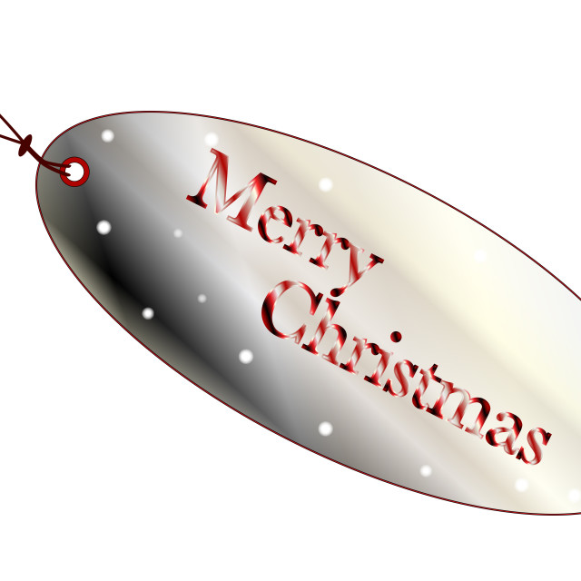 """""""Merry Christmas Store Tag"""" stock image"""