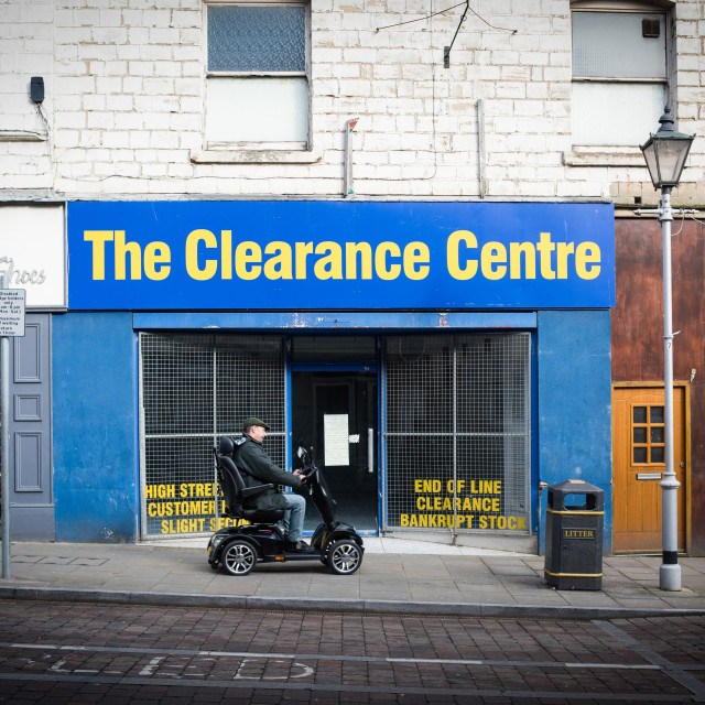 """The Clearance Centre"" stock image"