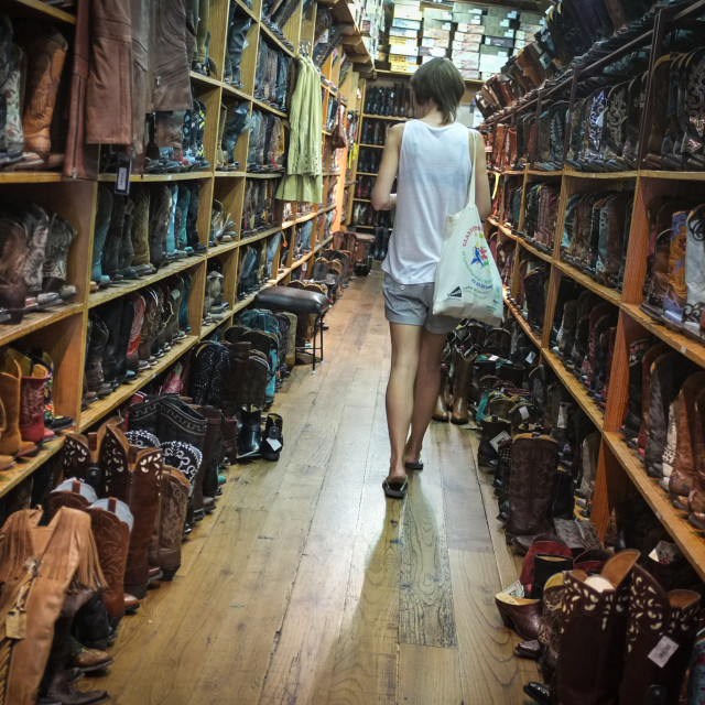 """Cowboy Boot Shop"" stock image"
