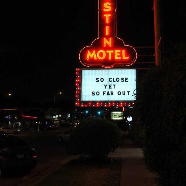 """Austin motel night"" stock image"