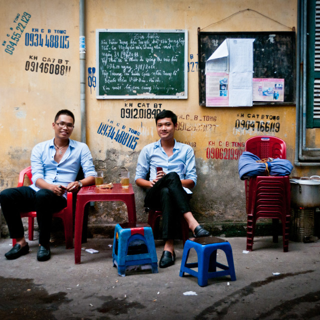 """Streets of Hanoi"" stock image"