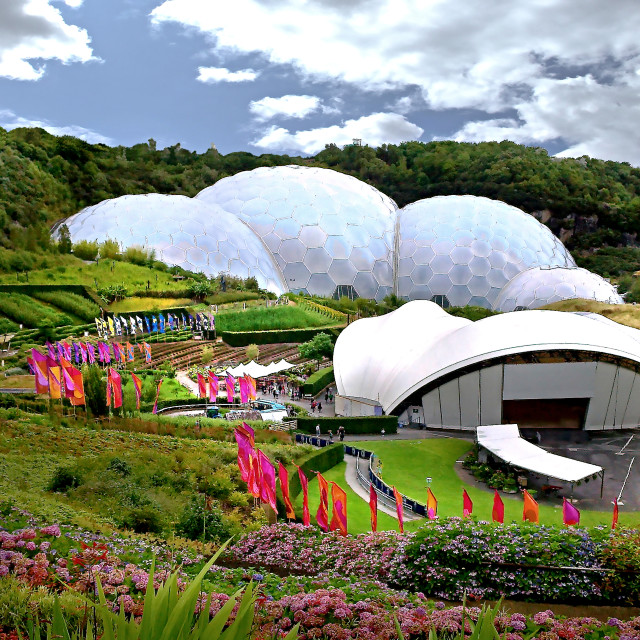 """""""Eden Project Geodomes"""" stock image"""
