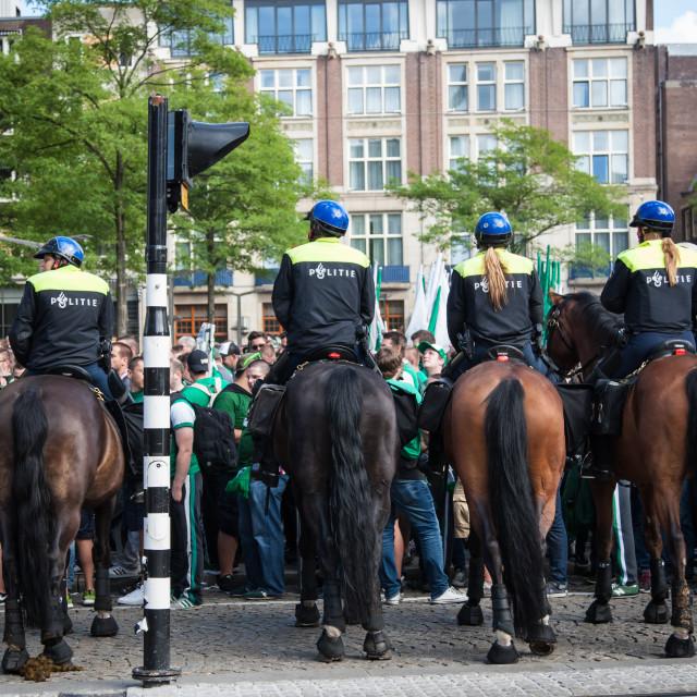 """Amsterdam police"" stock image"
