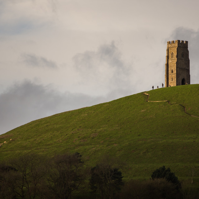 """Glastonbury Tor, Somerset"" stock image"