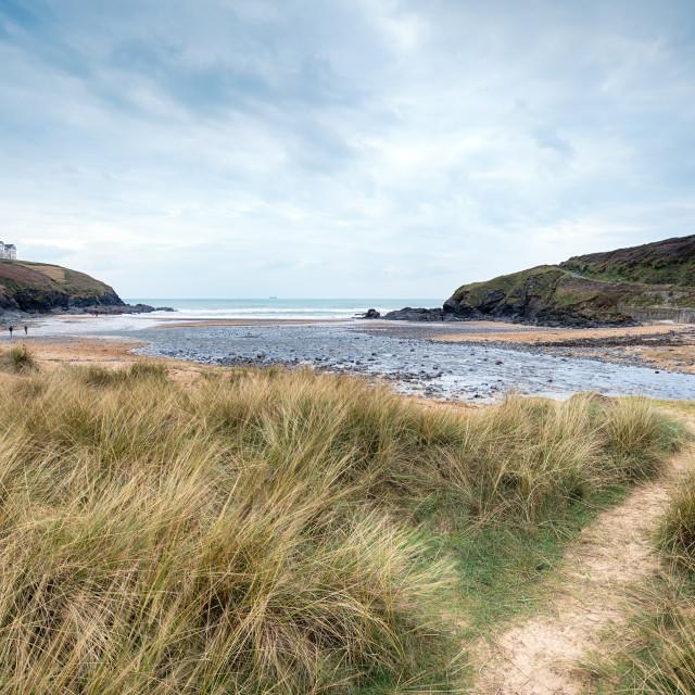 """Poldhu Cove in Cornwall"" stock image"
