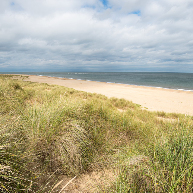 """""""The North Sea at Winterton in Norfolk"""" stock image"""