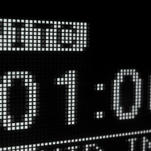 """Macro shot-display of the broadcast video recorder"" stock image"