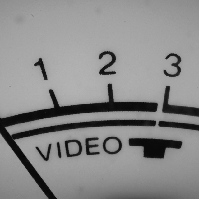 """Close-up of the video reference display."" stock image"