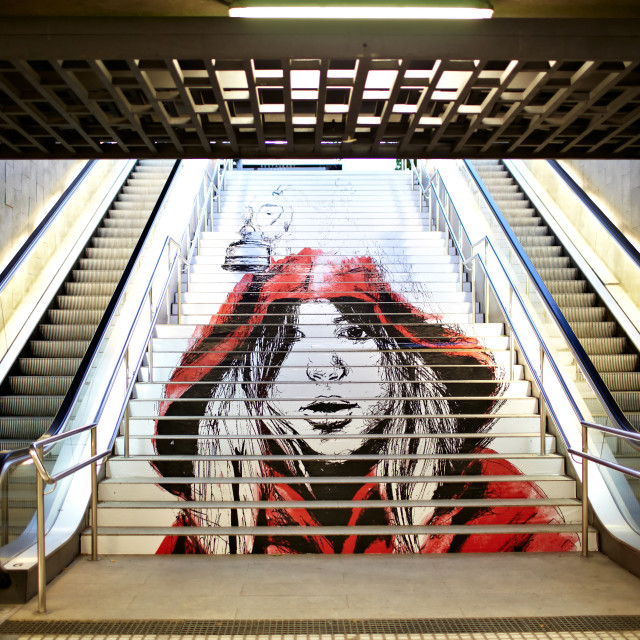 """Graffiti in the metro."" stock image"