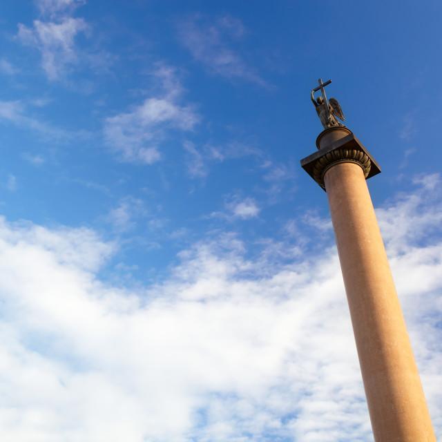 """""""Alexander Column in St. Petersburg."""" stock image"""