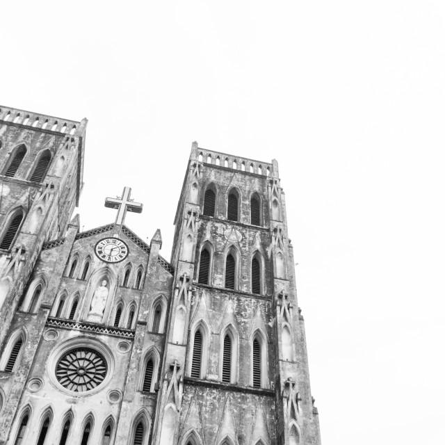 """Church in Hanoi"" stock image"