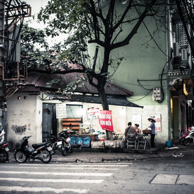 """Dusk in Hanoi"" stock image"