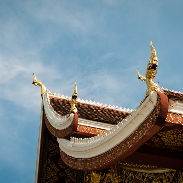"""""""Top of temple"""" stock image"""