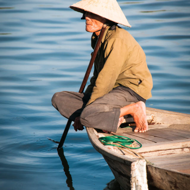 """Elderly Fisherman"" stock image"