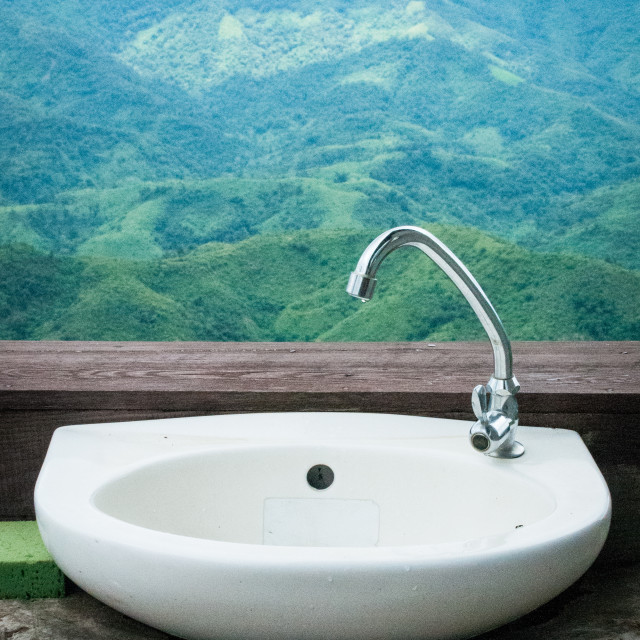 """Sink with a View"" stock image"