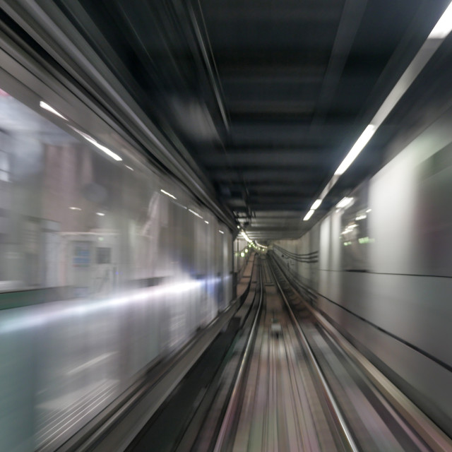 """Moving subway train"" stock image"