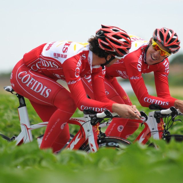 """Dauphiné time trial (2009)"" stock image"