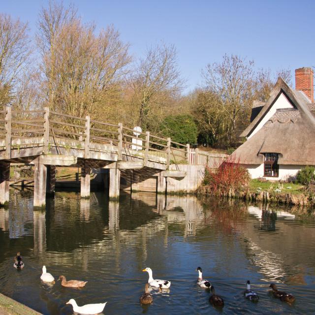 """""""Flatford Bridge, Suffolk"""" stock image"""
