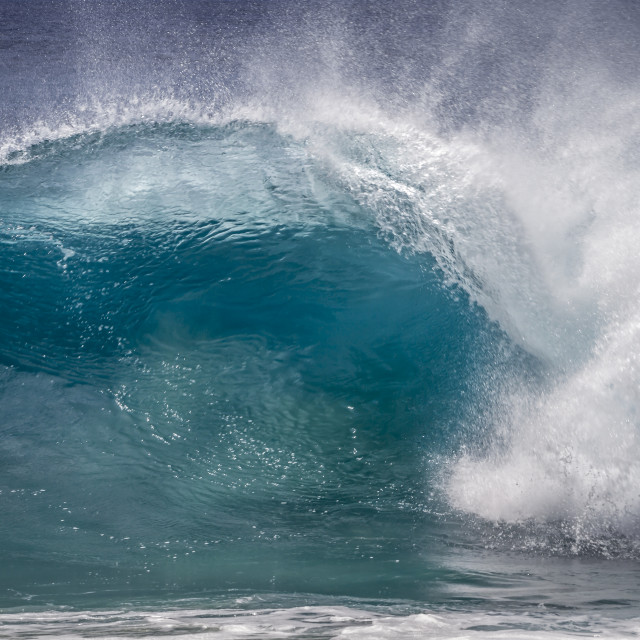 """Big Blue Wave"" stock image"