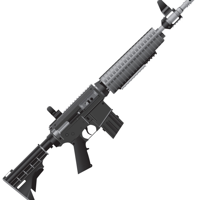 """""""Automatic rifle for operational work"""" stock image"""