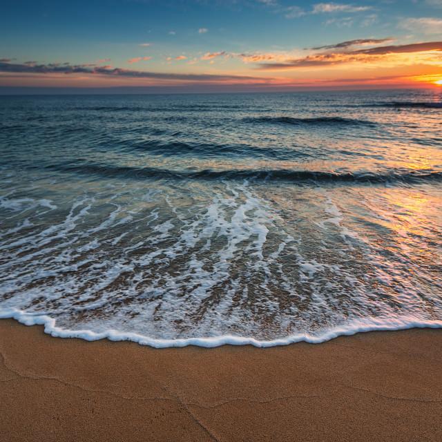 """Beautiful cloudscape over the sea,"" stock image"