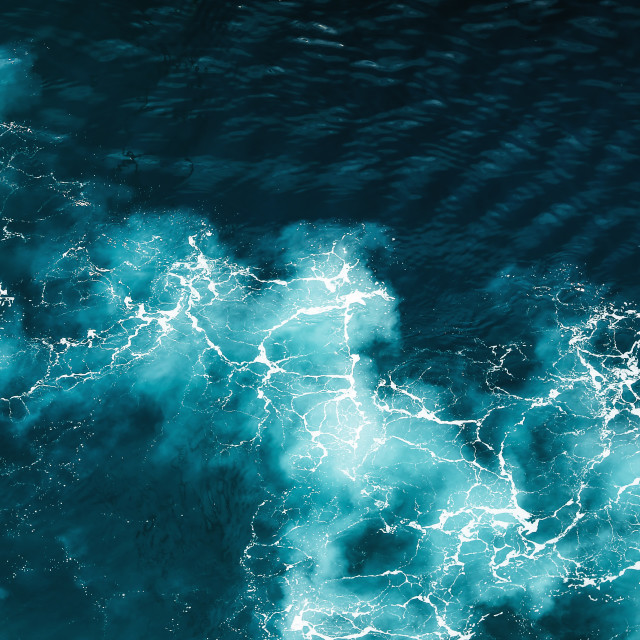 """Abstract splash turquoise sea water"" stock image"