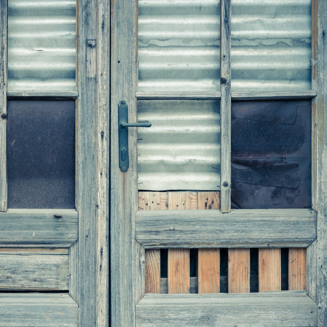 """Mixed media door"" stock image"