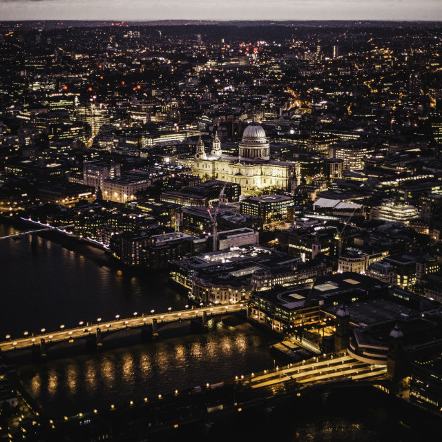 """LONDON BY NIGHT"" stock image"