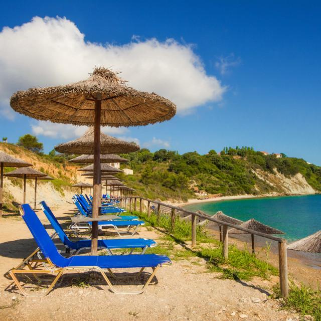 """Porto Roma beach on Zakynthos island, Greece"" stock image"