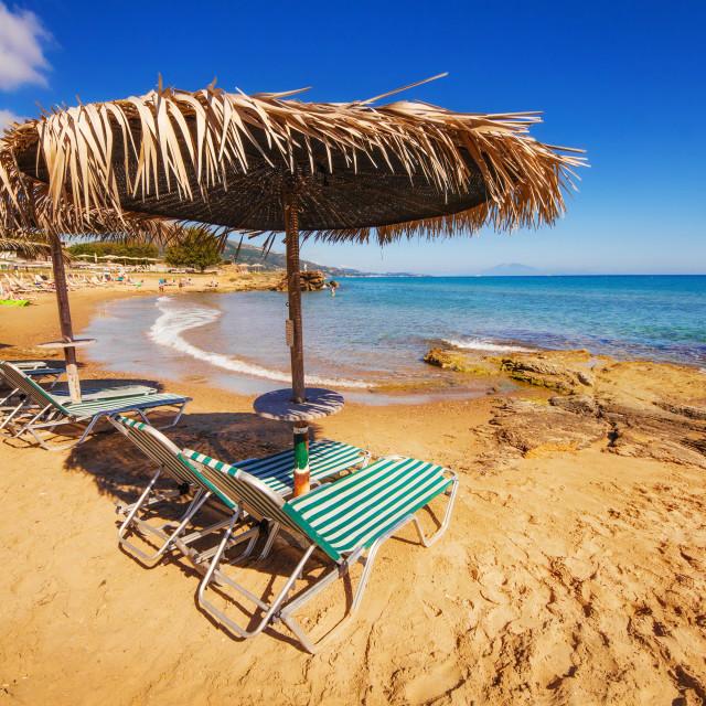 """Porto Kaminia beach on Zakynthos island, Greece"" stock image"