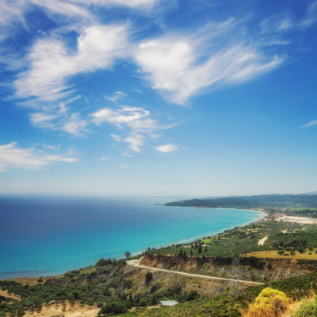 """Alykes bay, Zakynthos island, Greece"" stock image"