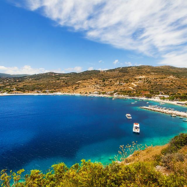 """Agios Nikolaos bay on Zakynthos island, Greece"" stock image"
